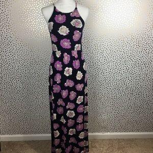 ANN TAYLOR LOFT Floral Halter Maxi Dress XS B31